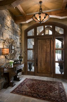 Beautiful Rustic Entryway Decor Ideas - Rustic Home Decor Rustic Entryway, Entryway Decor, Rustic Decor, Entryway Ideas, Rustic Italian Decor, Entrance Ideas, Tuscan Decor, House Entrance, Rustic White