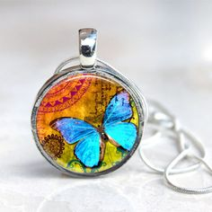 Colorful Butterflies- Interchangeable Magnetic Necklace