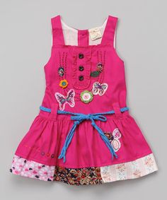 Another great find on #zulily! Fuchsia Butterfly Patchwork Dress - Infant, Toddler & Girls by the Silly Sissy #zulilyfinds