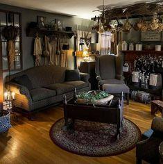 Primitive Living Room, Primitive Decor, Confessions, Night, Primitives, Living Rooms, Room Ideas, Home, Creative