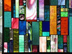 Custom ordered stained glass wacky window by stanfordglassshop