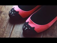 DIY ♥ Cat Toe Flats :: i love it when bloggers include a video how-to for their crafts; it's fun! :D