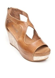 Antelope Back Zip Wedge Heels
