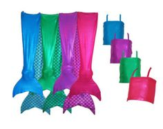 These are soooo cool! Mermaid Tail Swimsuits for kids and adults!!