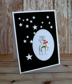 Ann Greenspan's Crafts: Black and White Starfall cards