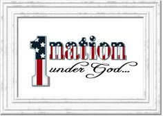 Patriotic 4th of July or Memorial Day FREEBIE Printable - One Nation Under God