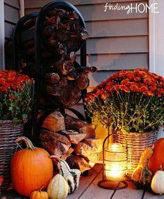 Porch decor for Fall...love.
