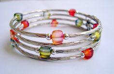 A memory wire bracelet