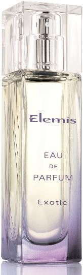 Elemis Exotic Eau de Parfum (for women). Exotic will take you on a journey for all senses. It is a relaxing and opulent mixture of spicy, floral an woody notes. The fragrance opens with warming and spicy Sri Lankan Cinnamon Bark, Pink Pepper and Clove Bud Oil from the Comores Isles. A heart blooms with Ylang Ylang, Indian Jasmine Sambac and Tuberose. A base is coloured in deep, dark nuances of Frankinscense, Somali Incense, Sandalwood and Moroccan Cedarwood.