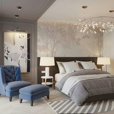 Nightstands, beds, side tables, cabinets or armchairs are some of the luxury bedroom furniture tips that you can find. Every detail matters when we are decorating our master bedroom, right? Hotel Room Design, Bedroom Bed Design, Home Bedroom, Modern Bedroom, Bedroom Decor, Master Bedroom, Luxury Bedroom Furniture, Interior Design Living Room, Living Room Decor