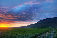 mountains, iceland, god, dreams, sunset