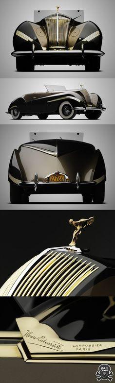 """1939 Rolls-Royce Phantom III """"Vutotal"""" Cabriolet by Labourdette"""