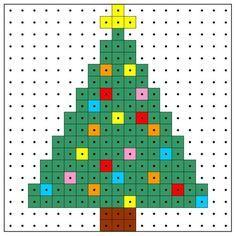 Karácsonyfa minta az egyszerűség jegyében. Elkészítenéd? Rendelj hozzá díszdobozos gyöngyöket! http:// on.fb.me/1cc0O7O