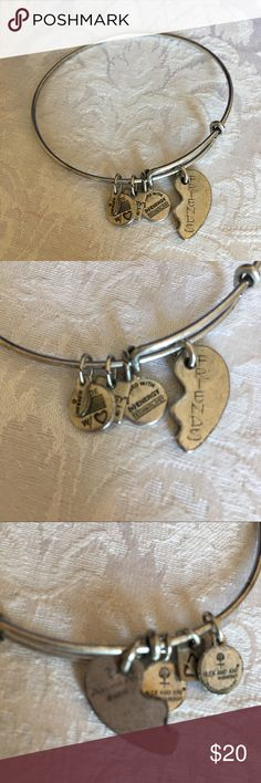 Alex & Ani half of Best Friends Silver Bracelet Alex & Ani half of Best Friends Silver Bracelet - I don't have the other half! Maybe you just want the Friends half! Alex & Ani Jewelry Bracelets