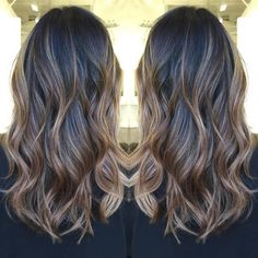 light brown balayage for black hair: