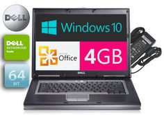 Dell Laptop Latitude Windows 10 PRO 4GB RAM OFFICE Wireless  Battery #1135