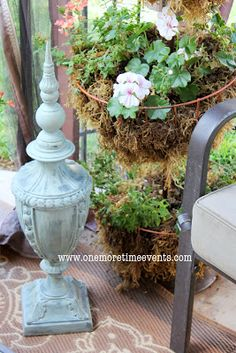 One More Time Events...: Add to Your Outdoor Space using an Old Lamp