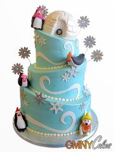 Winter Wonderland Topsy Turvy Cake