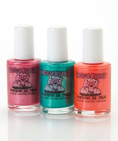 This is Adeline's favorite nail polish.and maybe mine:) Totally nontoxic and odorless, super safe for kids! Take a look at this Sweet Summertime Nail Polish Set by Piggy Paint on today! Safe Nail Polish, Nail Polish Sets, Acne Detox, Friendly Nails, Dry Brushing Skin, Lily Grace, Activity Cube, Nails For Kids, Kawaii