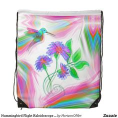 Hummingbird Flight Kaleidoscope Backpack Bag