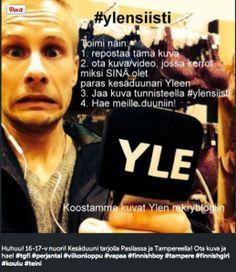 Sari Veikkolainen Instagramissa rekrytoimassa #ylensiisti