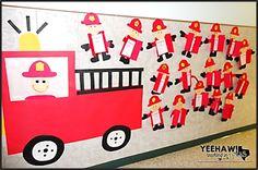 Yeehaw Teaching in Texas!: Fire Prevention Week Made EASY! Yeehaw Teaching in Texas! Fire Safety Crafts, Fire Safety Week, Daycare Crafts, Preschool Crafts, Fire Truck Craft, Firefighter Crafts, Fire Prevention Week, Art For Kids, Crafts For Kids