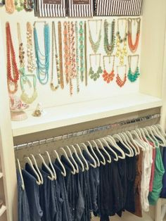 Organized and Pretty Closets - How to Organize Your Clothes - Good Housekeeping I spy Stella & Dot Jewelry! -Jenni B. | Honey We're Home