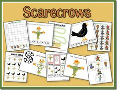 Free scarecrow printables for preschool and kindergarten Autumn Activities For Kids, Fall Preschool, Preschool Themes, Preschool Printables, Preschool Activities, Harvest Activities, Preschool Worksheets, Therapy Activities, Free Printables