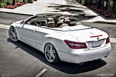 Mercedes E350 convertible modified  by Modified Concepts in the US. Looks stunning!
