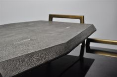 ginger brown stingray,shagreen nesting table,faceted, faceted furniture,faceted…