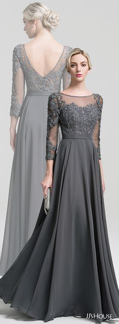 A Line Princess Scoop Neck Floor Length Chiffon Mother Of The Bride Dress With Beading Sequins 008091949