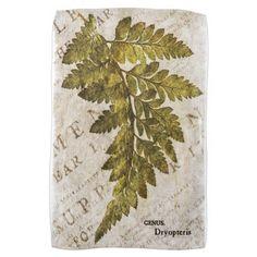 Green Fern Botanical Ferns Tropical Template Kitchen Towel