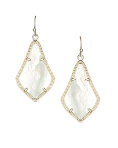Alex Earrings in Ivory Pearl - Show off your best beach look with the Alex delicate earrings in ivory mother-of-pearl by Kendra Scott.