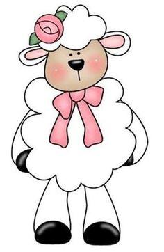 very cute lamb! Clipart Baby, Cute Drawings, Animal Drawings, Sheep Cards, Cute Lamb, Baby Clip Art, Sheep And Lamb, Iris Folding, Applique Patterns