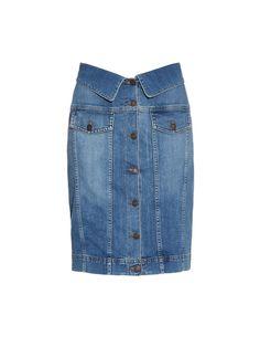 Buttoned stretch-denim pencil skirt | Moschino | MATCHESFASHION.COM US