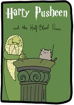 Harry Potter Pusheen Cat Harry Pusheen and the Half Blood Prince Pusheen Harry Potter, Harry Potter Cartoon, Harry Potter Memes, Pusheen Love, Pusheen Gif, Pusheen Stormy, Harry Porter, Kawaii 365, Image Chat