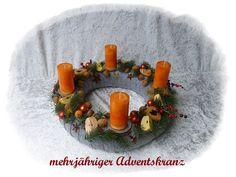 Adventskranz 42 cm! aus Floristenhänden mehrjährig von Die Geschenkidee auf DaWanda.com