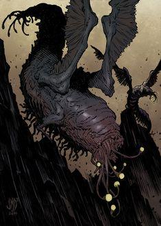 """Lovecraft Monsters by "" Creature Feature, Creature Design, Creature 3d, Dark Fantasy, Fantasy Art, Call Of Cthulhu Rpg, Aliens, Lovecraftian Horror, Eldritch Horror"