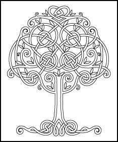 Trendy tree of life drawing pattern celtic knots ideas Colouring Pages, Adult Coloring Pages, Coloring Books, Celtic Symbols, Celtic Art, Celtic Knots, Celtic Mandala, Celtic Patterns, Celtic Designs