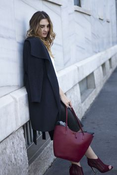 Winter #outfit : Grey and marsala