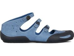 Peu Senda comes as a blue sandal made of nubuck leather. I really like this but think it is super weird at the same time.