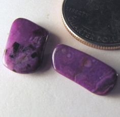 7 ct Sugilite (2) purple tumbled free-form! Wessels Mine, Africa  Free US Ship