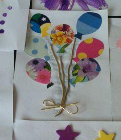 Balloon birthday card, crafts for kids