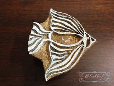 We could stamp all the hanging fish onto paper mache? Moody..  Wood Block Printing Hand Carved Indian Wood Textile Block Stamp Angel Fish Motif DIY Craft Project Stamper