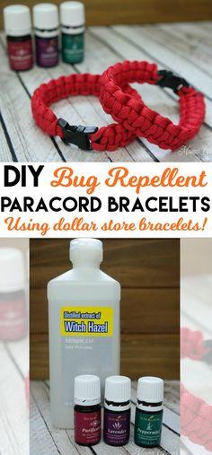 DIY Bug Repellent Paracord Bracelets - great natural alternative bug repellent to chemical sprays!!