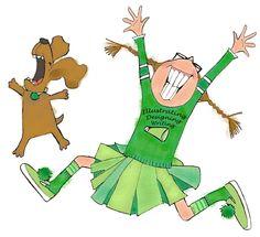"Priscilla Burris ""Cheer Girl and Dog"""
