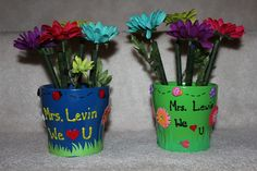 Flower pot pens i normally buy from michaels the clay pots and paint