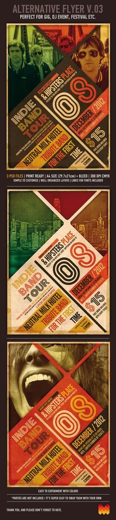 Alternative Poster Hi-Res PSD Template by moodboy , via Behance
