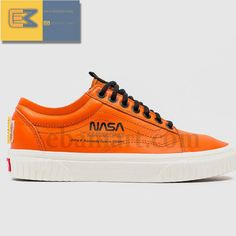 e4730d366 NASA x Vans Old Skool Space Voyager True White Brown Orange VN0A38G1UP9 new   fashion