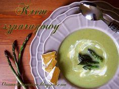 Ooomnomnomnom !: Krem szparagowy. Zupa krem z zielonych szparagów. Po ilu łyżkach Ty się uśmiechniesz? :)